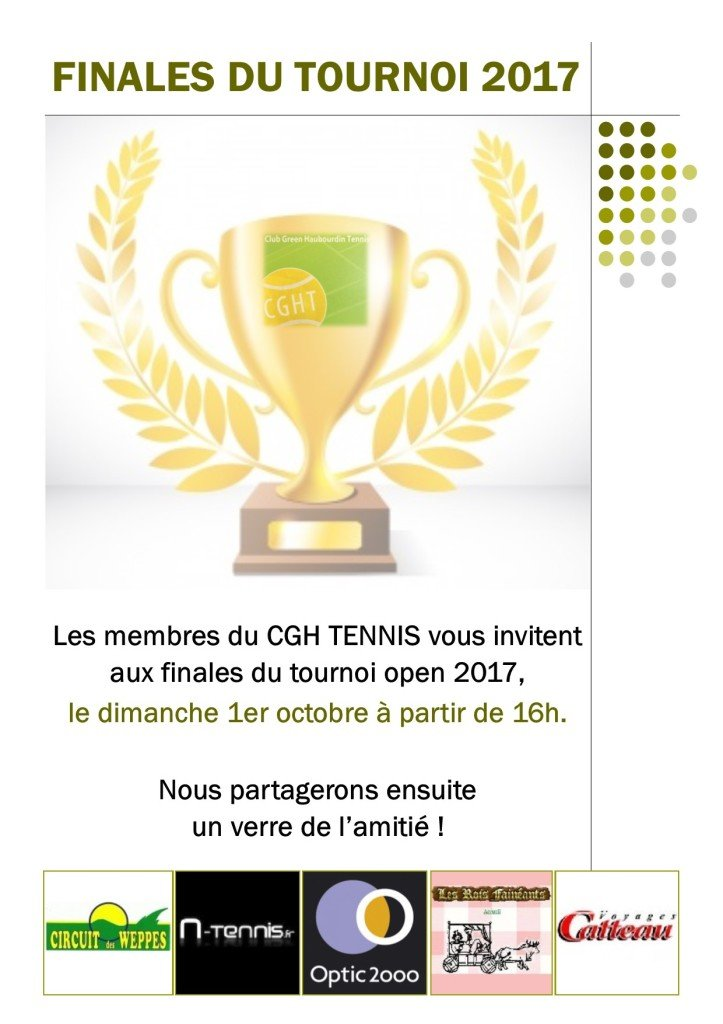Finales tournoi open 2017