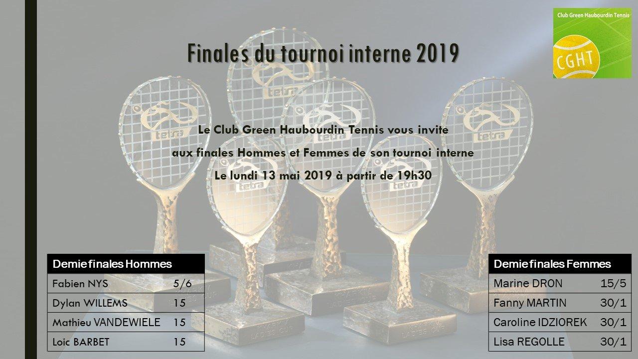 Finales du tournoi interne 2019